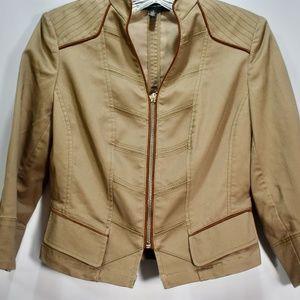 WHBM Khaki Tan Motto Jacket 0